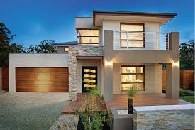 modern double story house designs double storey house plans home design