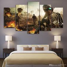 2018 Living Room Wall Decorative Painting 5 Panel Unframed Army