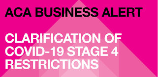 The victorian government this week unveiled new rules for the state's businesses with tough new restrictions. Clarification Of Stage 4 Restrictions Aca Association Of Consulting Architects Australia