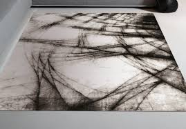 black and white modern rug style