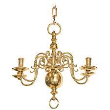 six light dutch brass antique chandelier for