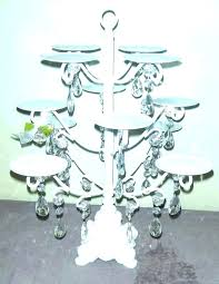 crystal chandelier cupcake stand white and pink beaded multi cake home kitchen tree improvement
