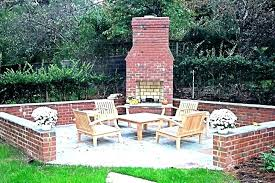 backyard brick fireplace outdoor for cooking