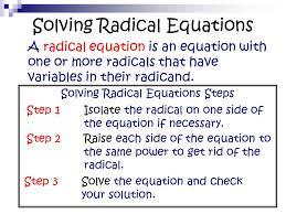 9 solving radical equations