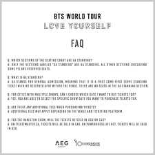 Bts Seating Chart La Bts Love Yourself Usa Canada Tour Ticket Info Release