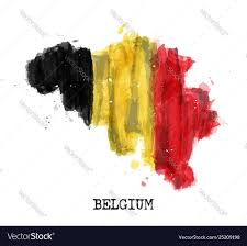 Design A Country Belgium Flag Watercolor Painting Design Country