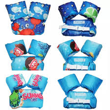 Toddler Life Jacket Kids Swim Vest Arm Bands Swimming Pool Wear Float Safe Float Vest Puddle Jumper Swimming Pool For Baby 2 12 Years