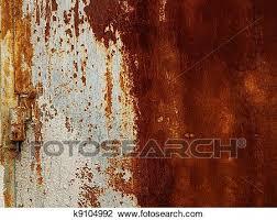 a rusty corrugated iron metal fence close up zinc wall