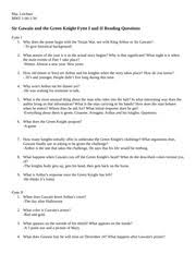 sir gawain and the green knight fytte iii and iv reading questions 2 pages sir gawain and the green knight fytte i and ii reading questions