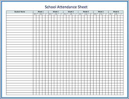 Sunday School Attendance Chart Free Printable Free Printable Attendance Sheet Room Surf Com