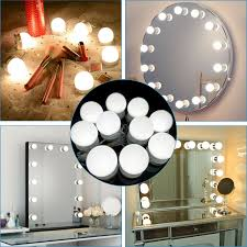 Vanity Light Up Details About Make Up Mirror Lights 10 Led Kit Bulbs Vanity Light Dimmable Lamp Hollywood N