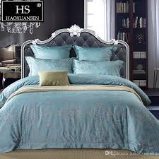 high quality egyptian cotton yarn dyed jacquard baroque paisley design bedding set sheets duvet cover pillowcase queen king size sheets bedding twin