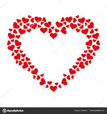 heart frame small hearts icon vector love symbol valentine day stock vector