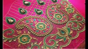 Aari Design Book Amazing Thread Embroidery Work Blouse Designs For Border Saree Maggam Work Aari Work Blouse