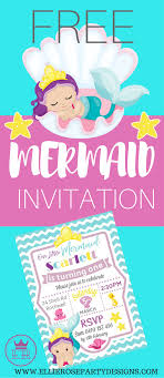 Free Party Invites Templates Free Mermaid Under The Sea Invitation Template To Download