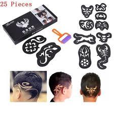 1 Sada 25 Ks Modní Vlasy Tetování Pro Vlasy Styling Trimmer Tetování šablon Muži Vlasové Doplňky Vyřezávané Vlasy Pattern At Vova