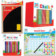 Details About School Supplies Chalk Board Jumbo Chalk Educational Reward Chart Glitter Glue