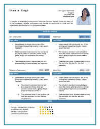 Business Resume One Page Personal Resume Template Great Example Of