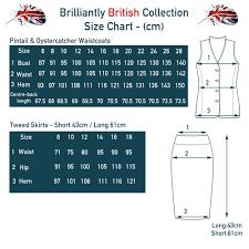 Size Chart Waistcoats Skirts Gamebirds Clothing
