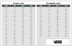 Vans Old Skool Size Chart Vans Old Skool Black White