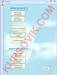 База данных Гостиница версия Курсовая работа на ms access  База данных Гостиница версия 2
