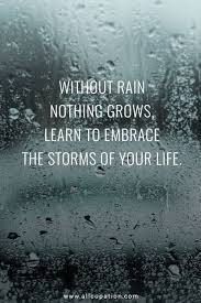 Beautiful Quotes On Rain Best of Quotes Of The Day Without Rain Nothing Grows Learn To Embrace The