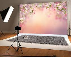 Cherry Blossom Backdrop Hellodecor Polyster 7x5ft Photography Backdrop Valentines Day Cherry Blossom Flowers Bokeh Blurry Pink Romantic Wedding Background Baby Girls Lover