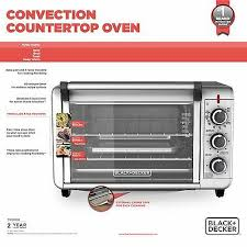 6 of 12 6 slice convection countertop toaster oven silver to3000g black decker kitchen