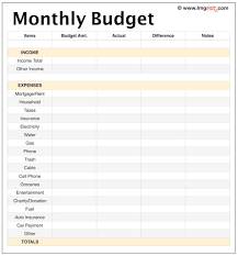 Free Printable Monthly Budget Planner Free Printable Monthly Budget Binder Blank Worksheet Expense
