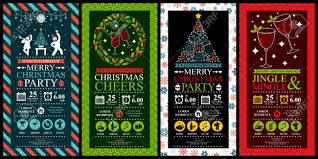 christmas party invitation card sets royalty cliparts christmas party invitation card sets stock vector 39093950