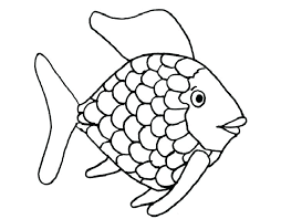 tropical fish coloring book pages rainbow page free bright