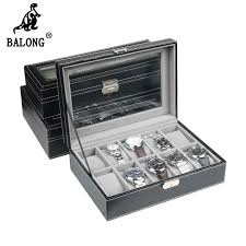 compare prices on mens watch organizer online shopping buy low super deluxe edition 12 grid leather watch box collection men watch storage case watch organizer box