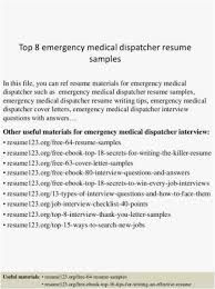 21 911 Dispatcher Resume Picture Best Resume Templates