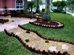 backyards for wooden slope fairy ideas front low with edging