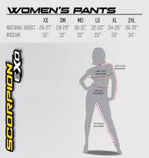 Ebay Pants Size Chart Details About Scorpion Womens Maia Textile Pants