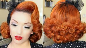 Pin Ups Hair Style classic pinup hair tutorial youtube 2263 by wearticles.com