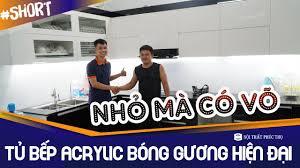 Mẫu Tủ Bếp Acrylic An Cường Hiện Đại - Đầy Đủ Tiện Nghi Tại Nhà Anh Vỹ - Từ  Sơn - Bắc Ninh #Shorts - YouTube