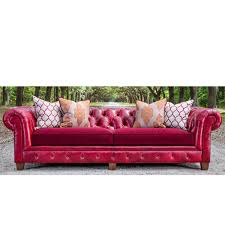 A brightly colored couch like this Chester Sofa is a great way to add a pop