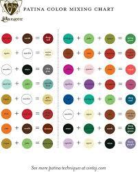 Color Blending Chart Brass Stampings With Soft Solder Swellegant Vintaj