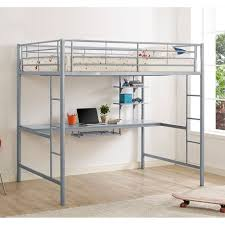 bunk bed with desk ikea. Wooden Double Loft Bed Twin Frame Full Size Over Desk Ikea Bunk With