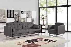 casa bauxite modern grey fabric sofa set
