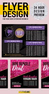 Premade Pricing Flyer Customized For You Hair Extensions Hair