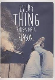 Postkarte Spruch Englisch Everything Happens For A Reason