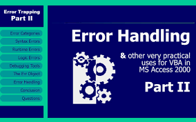 Error Trapping Part Ii Runtime Errors Error Handling Conclusion