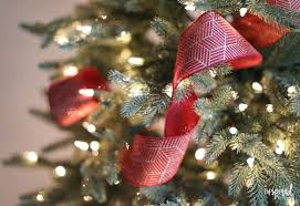 Creative christmas tree toppers ideas try Ribbon Christmas Tree Ribbon Tutorial How To Add Ribbon To Your Tree Inspired By Charm Tips And Tricks For Beautiful Christmas Tree Ribbon video