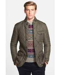 Olive Quilted Blazers for Men | Men's Fashion & Polo Ralph Lauren Northfield Waxed Quilted Sport Coat Jacket Adamdwight.com