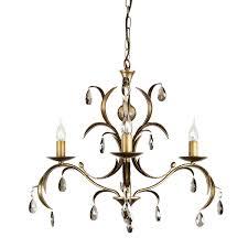 elstead lily 3 light chandelier bronze