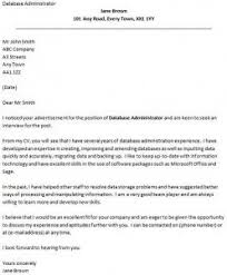 Database Administrator Cover Letter Example Icover Org Uk