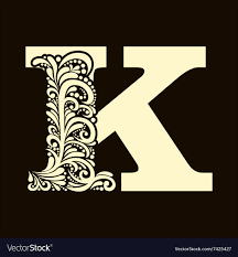 K N Air Filter Size Chart Elegant Capital Letter K In The Style Baroque