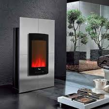 electric fireplace contemporary closed hearth floor mounted chfpv 20